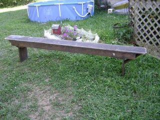 Primitive Bench // Harvest 8ft X 18in X 10 photo