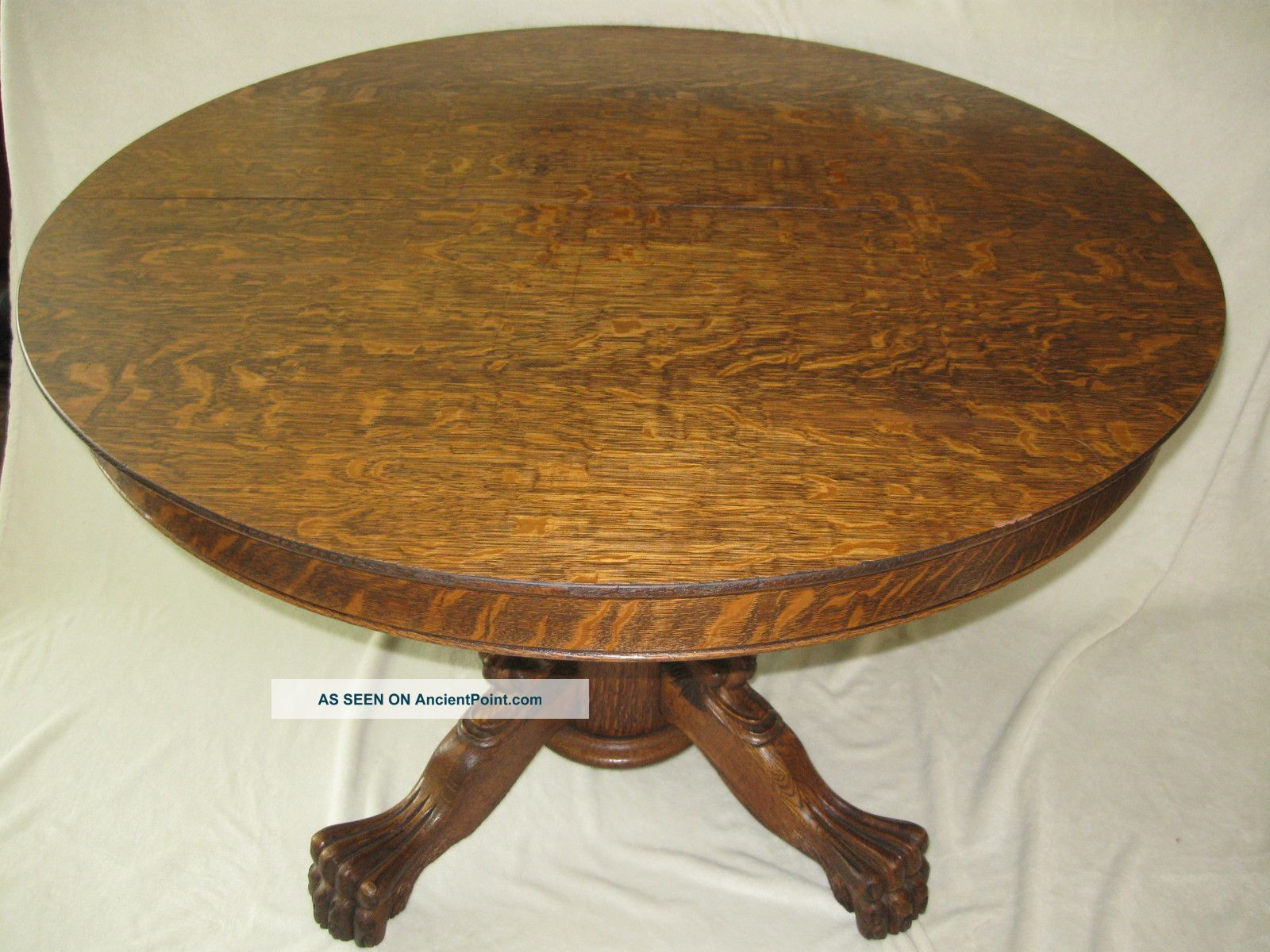 Antique Oak Table ~ Dining table tiger oak