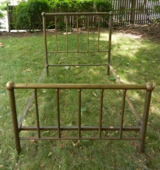 Antique Brass Bed Frame Full Or Double Size photo