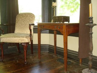 18th C.  Antique English Lowboy Table 1770 - 1790 photo