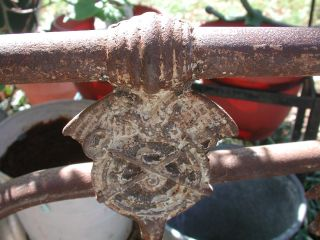 Antique Iron Youth Size Bed Shabby Patina Exquisite Chic Daybed photo