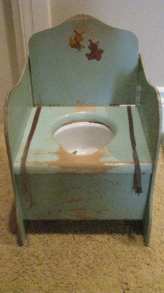 vintage potty chair
