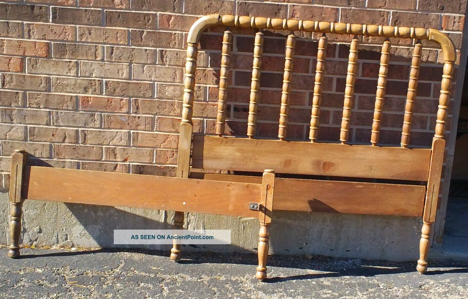 Antique Vintage Jenny Lind Twin Bed Headboard Footboard