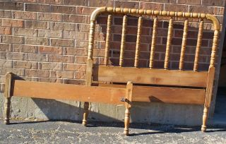 Antique Vintage Jenny Lind Twin Bed Headboard Footboard photo