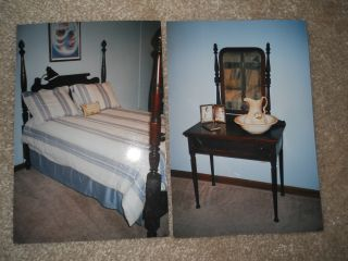 Antique Bedroom With Four Poster Bed And Vanity photo