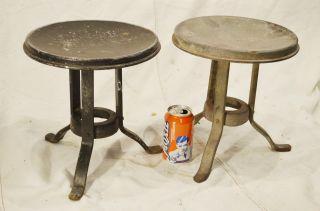 2 Matched Set Of Atlantic Steel Milk Stools Pair photo