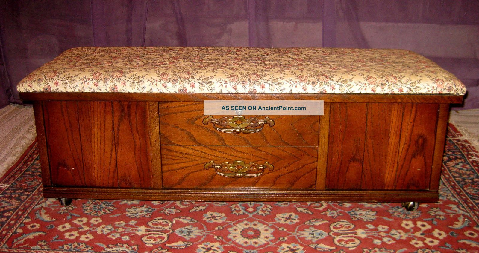 Vintage Lane Furniture Hope Chest / Trunk On Casters With ...