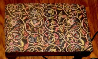 Vintage Floral Tapestry Heated Footstool - - Works Great photo