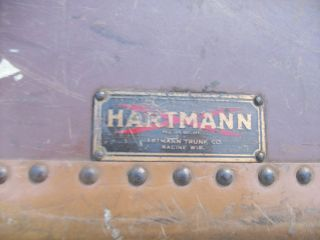 Antique/vintage Gibralterized Brown Hartmann Trunk photo