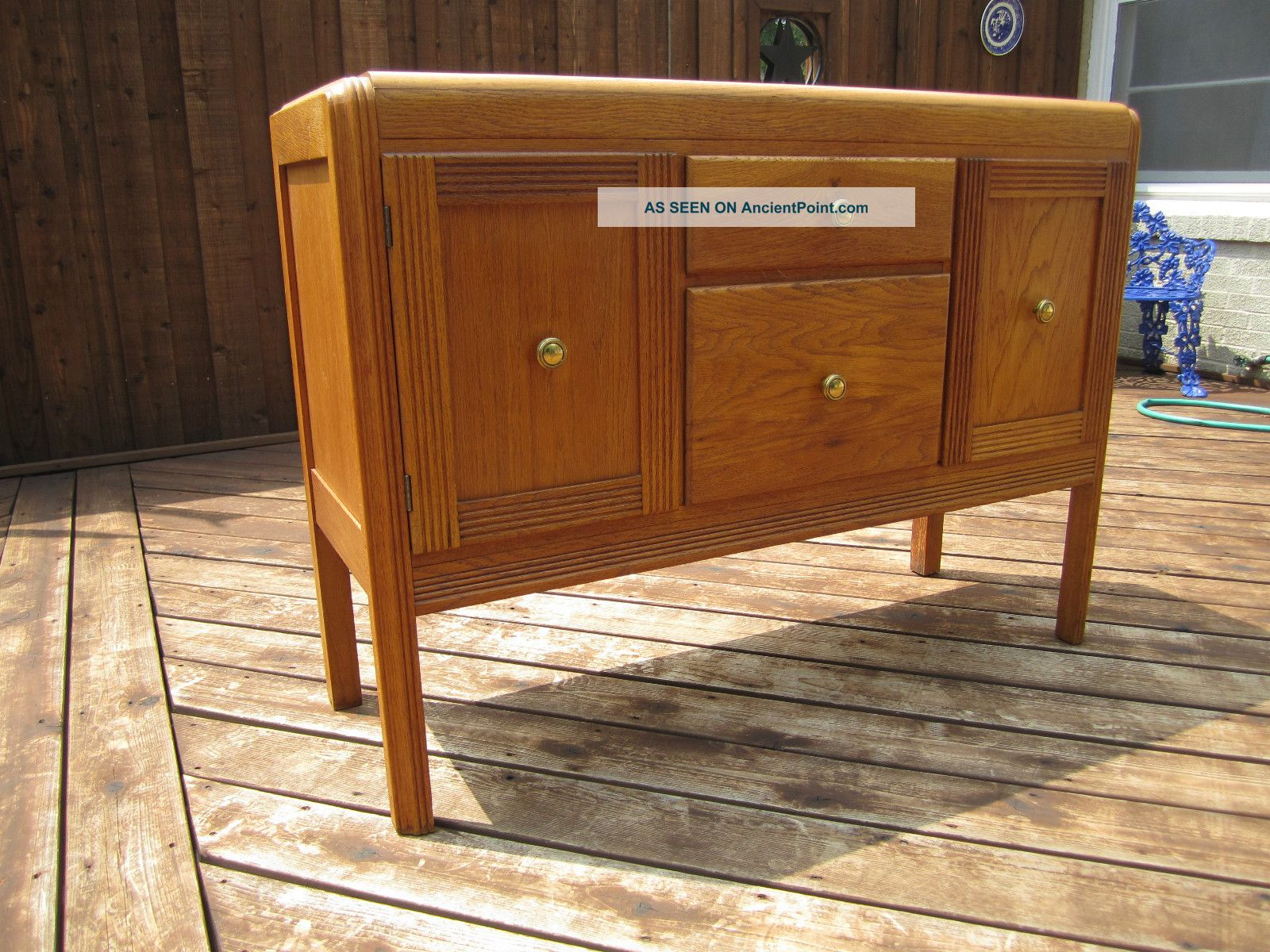 Antique Buffet Cabinet - Art Deco Details Post-1950 photo