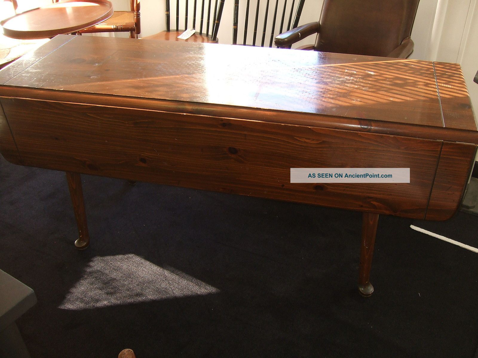 Pine Drop Leaf Harvest Table