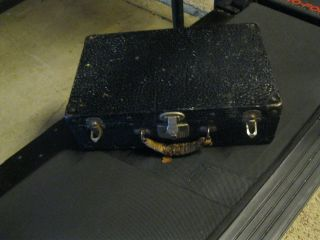 1890 ' S Antique Tin Suitcase/small Trunk photo