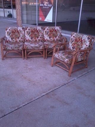 Ficks Reed Rattan Sofa And Chair photo