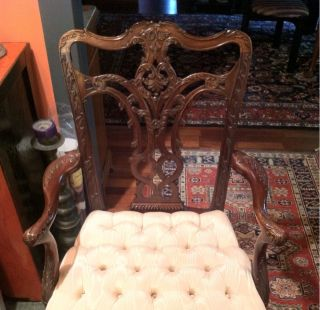 Chippendale Contemporary Mahogany Chairs (reproduction) photo
