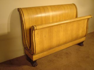 Baker Furniture Company Stately Homes Beidermeijer Queensize Sleigh Bed Paw Feet photo