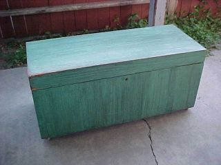 Large Antique Cedar Chest Trunk photo