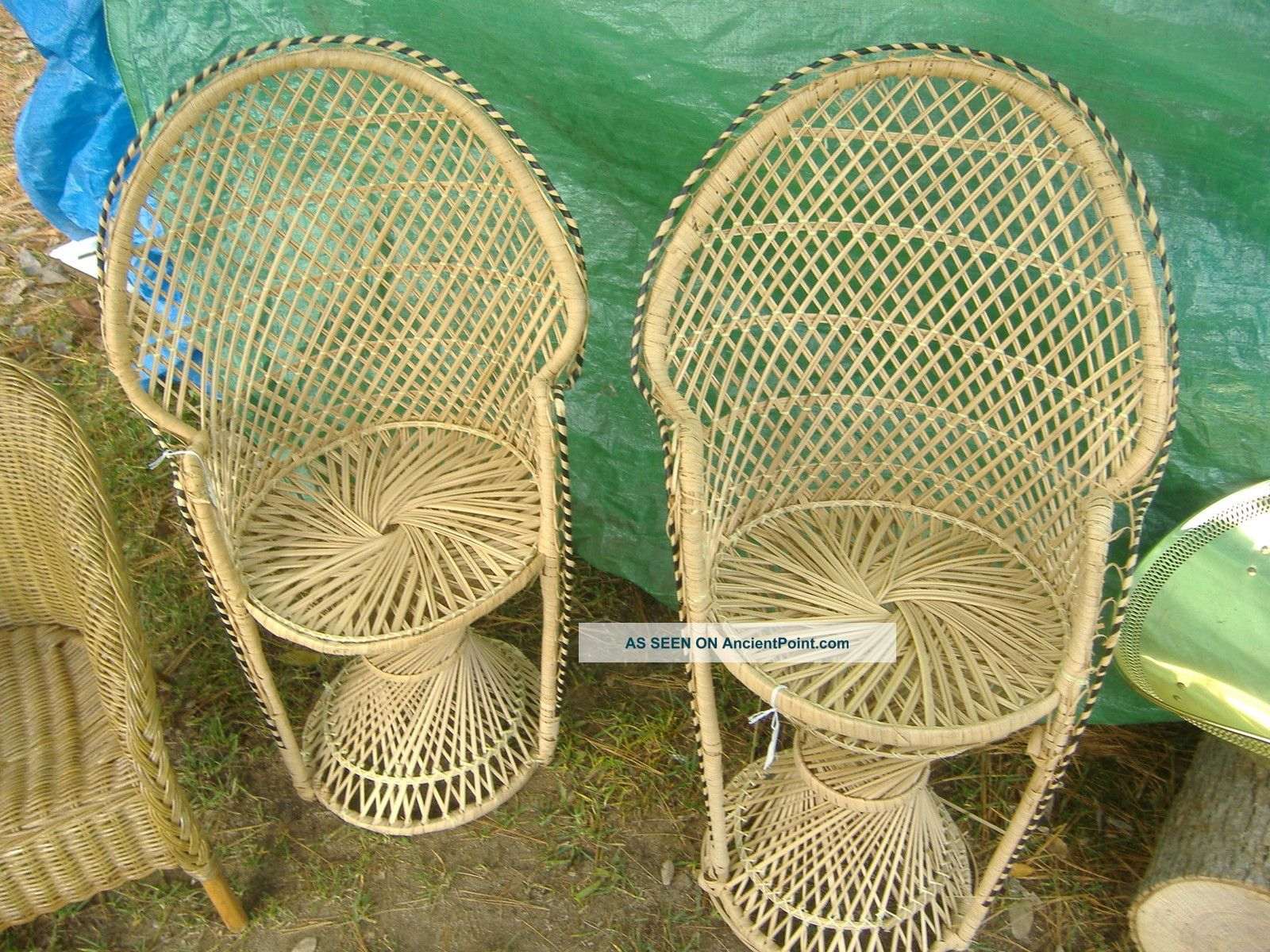 High Back Wicker Chair, Doll/child