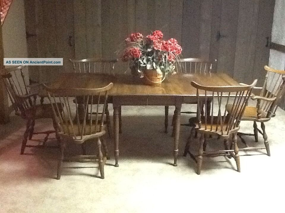 Vintage Pennsylvania House Early American Dining Table With 6 ...