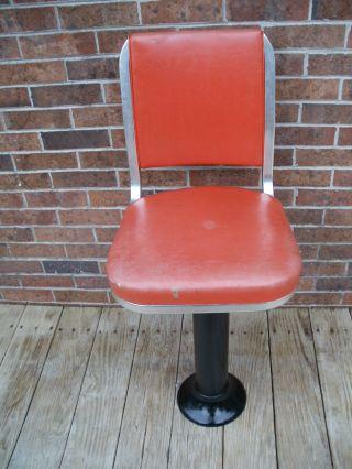 Vintage Stool Bar Swivel Cast Iron Base Table Machine Age Industrial Mid Century photo