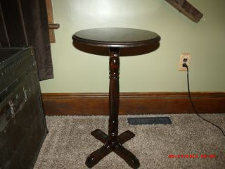 Antique Walnut Plant / Candle Stand photo