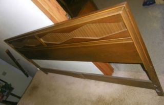 Rare Mid Century Modern Danish United Furniture Walnut Bed Headboard 80