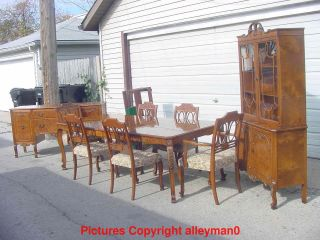 Romweber Antique Dining Set Table 6 Chairs Sideboard China Cabinet Outstanding photo