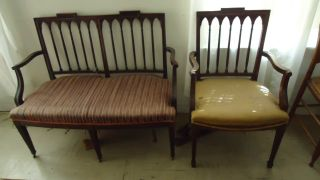 New York Federal Sette And Chair Slover And Taylor Decorative Arts Chairs Aafa photo