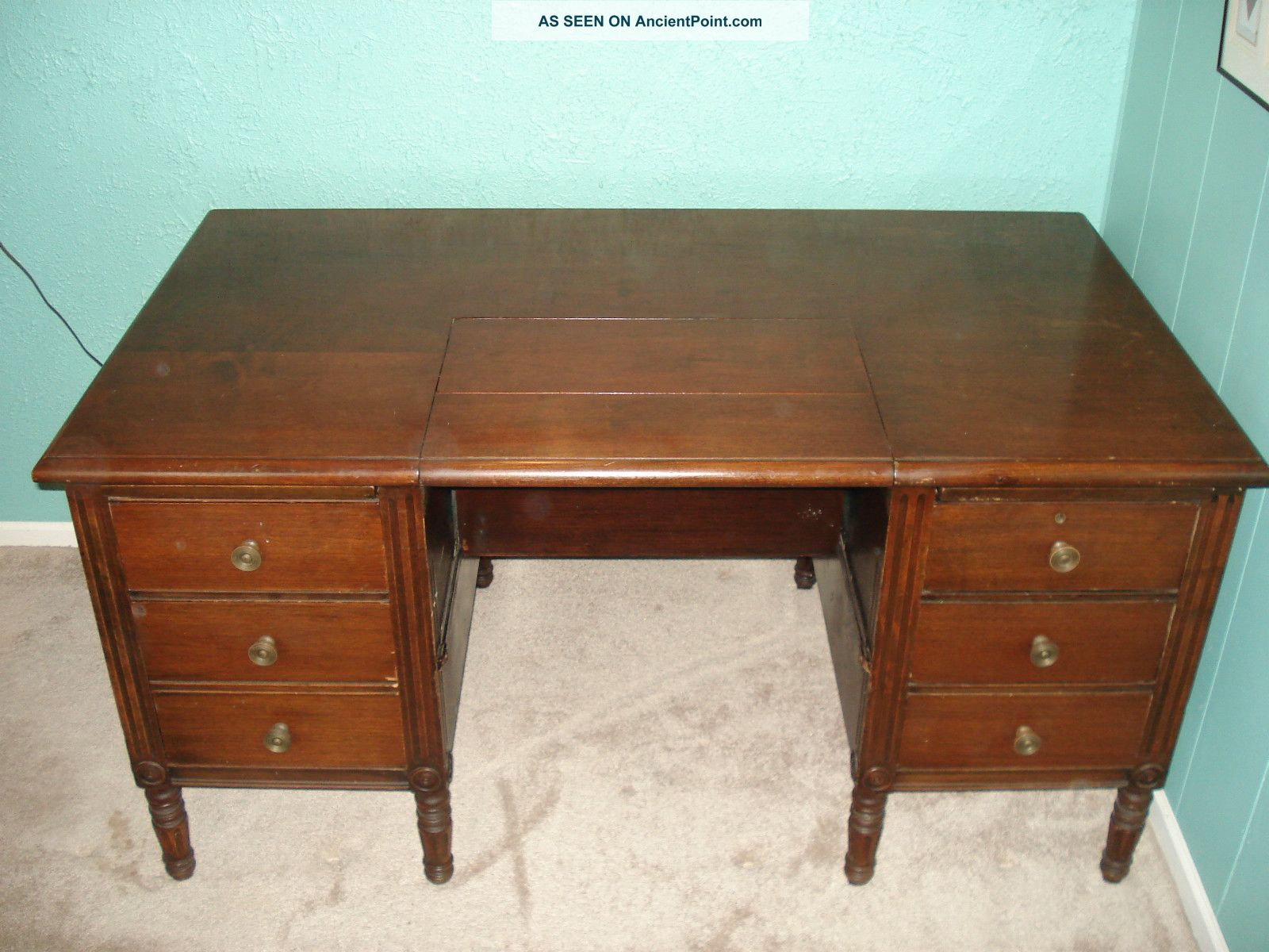 Old Wooden Desk ~ Antique wooden typewriter desk ayresmarcus