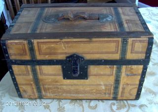 Vintage Kennebunk Maine Travel Trunk Or Salesman ' S Trunk George W.  Brown Co. photo