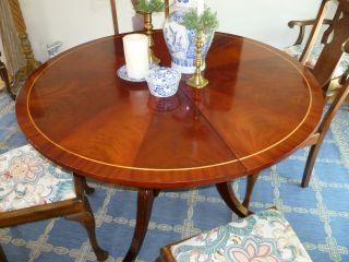 Wonderful Flame Grain Mahogany Dining Table,  47