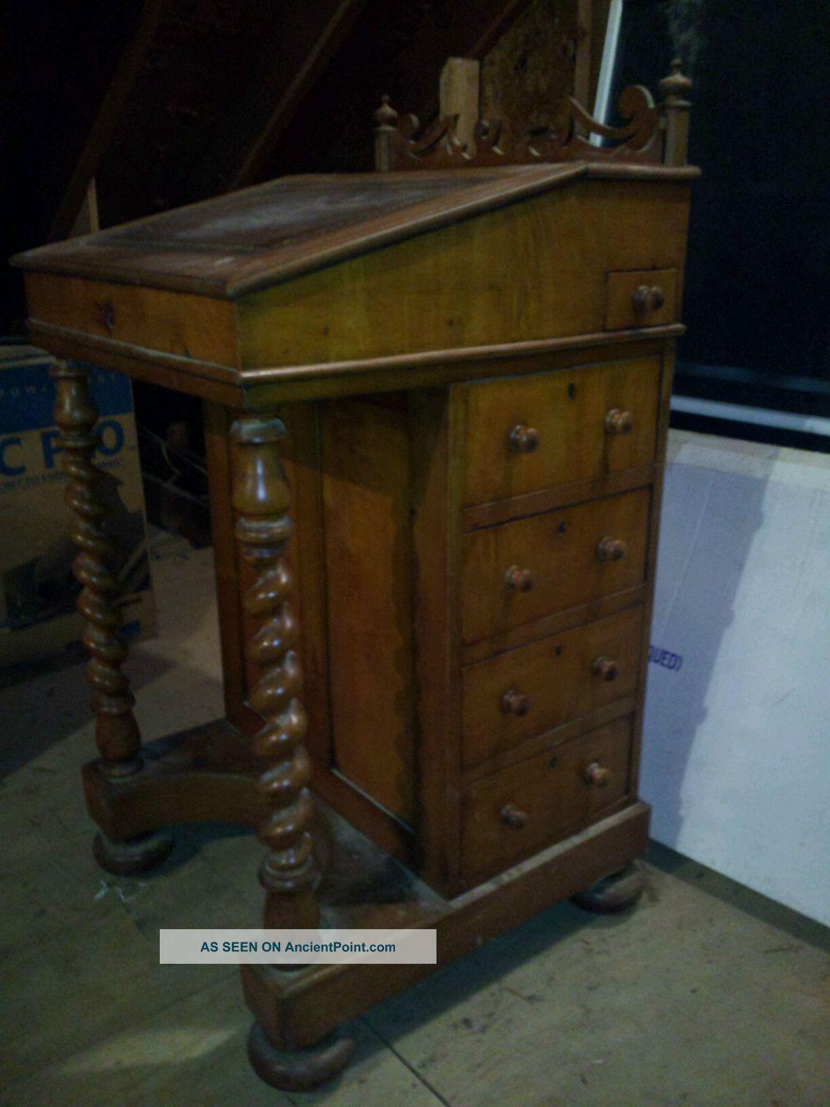 Antique Maple Davenport 1800-1899 photo