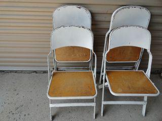 Vintage - Metal/wood Folding Chairs photo