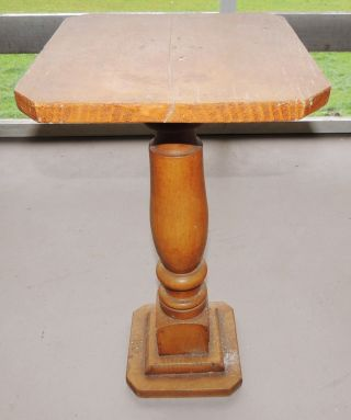 Vintage Early 1900s Fern Column Plant Stand Table photo