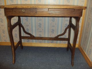 Solid Oak Writing Desk For Home Or Office Or Collection In Mint Condition photo