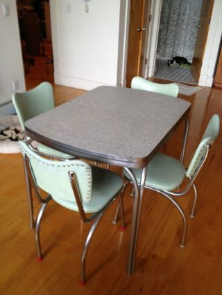 1950 U0027 S Formica Table/chair Set Photo