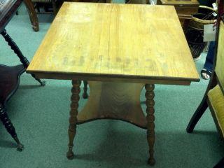 Oak Table With Barley Twist Legs photo