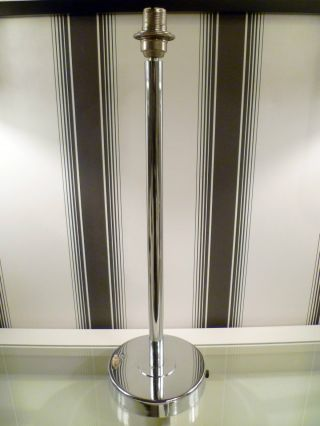 Fantastic Tall Large Chrome Lamp W.  Base Mounted Switch - Art Deco Vintage Retro photo