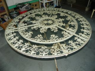 Gorgeous Ornate Wrought Iron Dining Table Vintage/antique photo