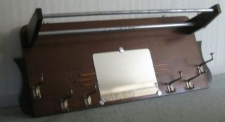 Antique Clothing Rack With Mirror (came Out Of A Passenger Train),  Unique photo
