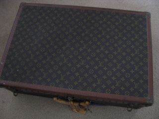 Vintage Lv Louis Vuitton Alzer Hard Travel Suitcase Trunk Monogram W/tray photo