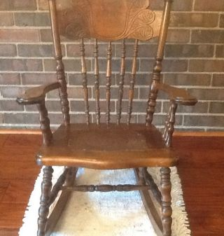 Victorian Antique Child ' S Rocking Chair photo