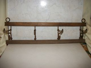 Antique Primitive Hat Or Coat Hanger,  Uk Origin 1925 Handmade,  4 Hooks photo