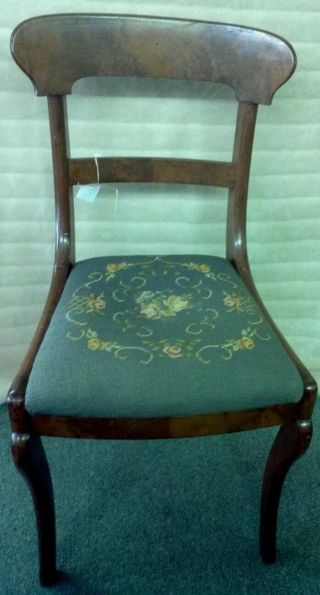 Early Empire Needlepoint Dressing Chair photo