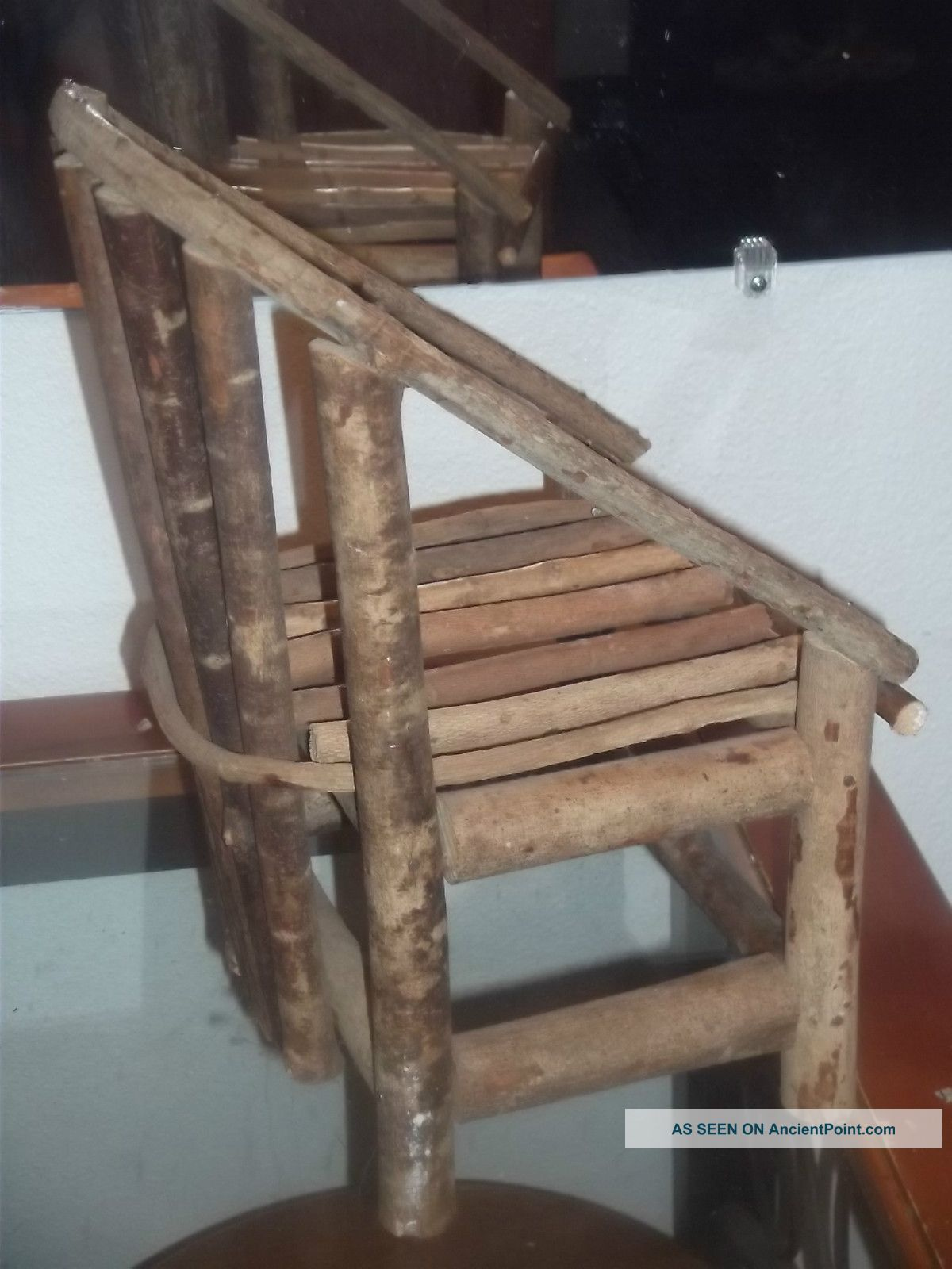 Marvelous photograph of Small Home Made Wood Chair Made From Limbsm For Doll Or Just Looks  with #7E644D color and 1200x1600 pixels