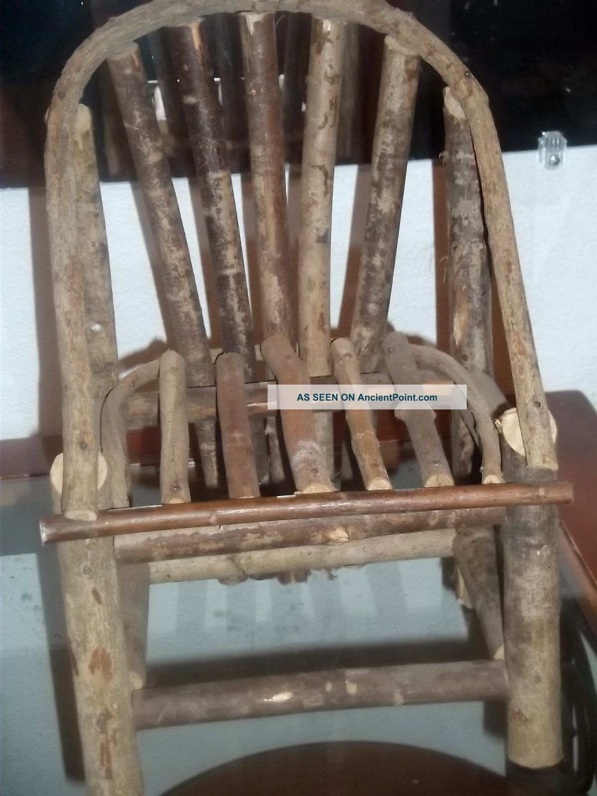 Marvelous photograph of Small Home Made Wood Chair Made From Limbsm For Doll Or Just Looks  with #7F674C color and 1200x1600 pixels