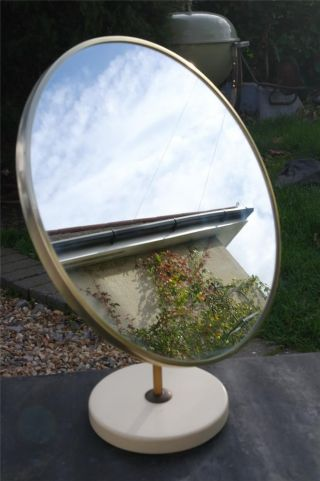 Large Vintage Dressing Table Mirror Retro 1960s Pedestal Mirror Durlston Designs photo