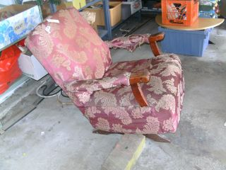 Vintage Rocking Chair Needs Recovering Good Frame Local Pickup Near Chicago photo