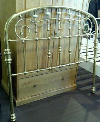 Antique Brass Full Size Bed Frame. photo