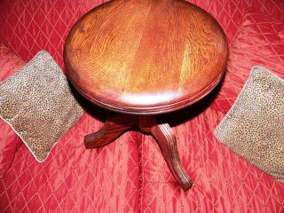 Charles Parker Antique Oak Piano Stool Completely Refinished photo