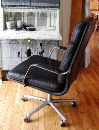 Vintage Ambrosiana High Back Chair Simon Gavina Eames Knoll Soft Pad photo